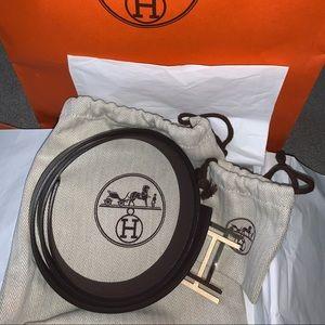 Hermes Reversible H Au Carre Belt Kit